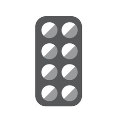 medical pill box gray icon on white background vector image