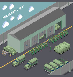 Military unit isometric composition vector