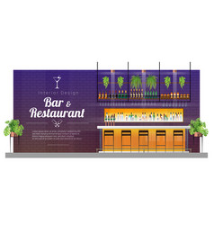 modern pub bar counter scene vector image