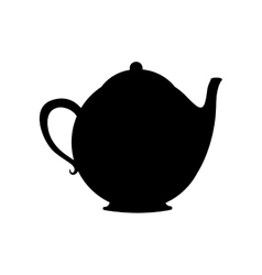 Monochrome silhouette with tea kettle vector