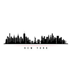 new york city skyline horizontal banner vector image