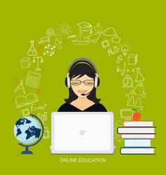 Online education vector