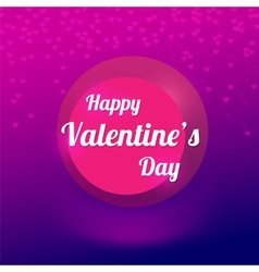 Purple background with blurry hearts vector