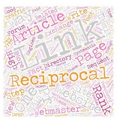 Reciprocal Link Exchange Systematic Approach vector image