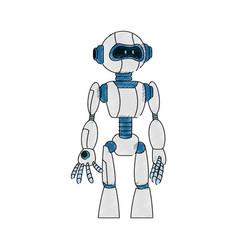 robot cartoon icon vector image vector image