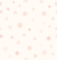 rose snowflake pattern seamless background vector image