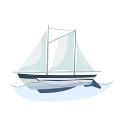 sea sailboats ship water carriage and maritime vector image