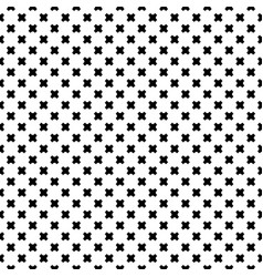 seamless pattern black crosses vector image