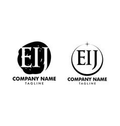 set initial letter eij logo icon design vector image