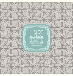 Set of line pattern and linear frame vector image