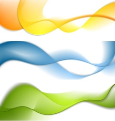 Shiny waves banners vector image