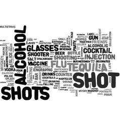 Shots word cloud concept vector