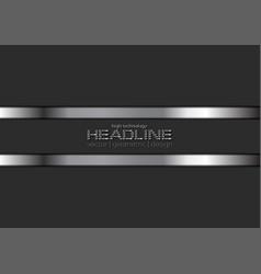 silver metallic stripes on black background vector image