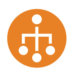 Sitemap icon orange color vector