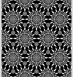 snowflakes flowers pattern round flower vector image