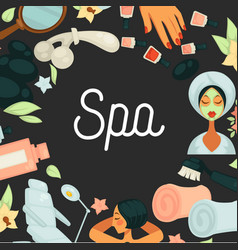 Spa procedures skincare and beauty salon service vector