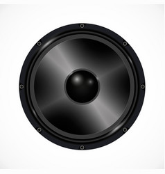 speaker on white background audio equipment vector image