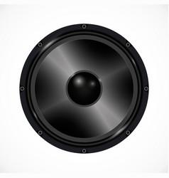 Speaker on white background audio equipment vector