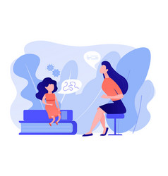 Speech therapy concept vector