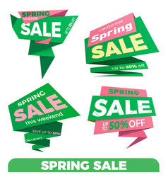 spring sale sale label price tag banner badge vector image