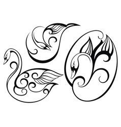Stylized swan vector image