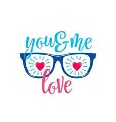 Sunglasses with hearts in vector