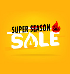 super season sale shopping offer layout up to 80 vector image