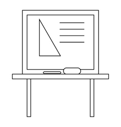 Triangle on a school blackboard icon outline style vector image