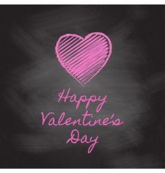 Valentines day chalkboard vector