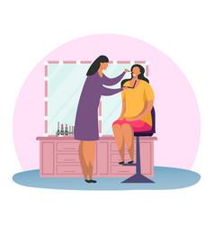 woman at makeup or female at make up professional vector image