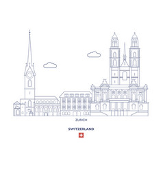 Zurich city skyline vector