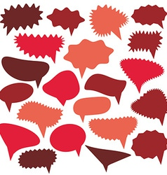 Blank Empty red Speech bubbles set on white vector image