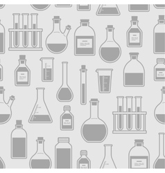 chemical glassware seamless pattern vector image vector image