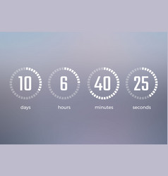 days hours minutes seconds vector image