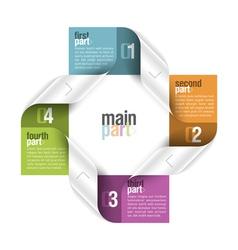 Four parts design template vector image