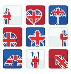 great britain icons vector image