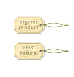 Organic tags set 11 vector image