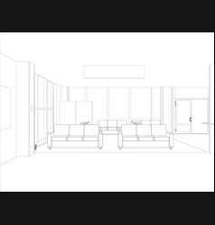 room sofas and windows vector image