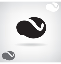 Stylized black silhouette of a whale vector image