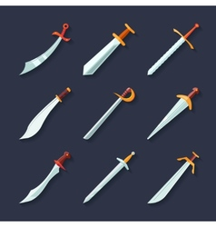 Sword icon flat vector