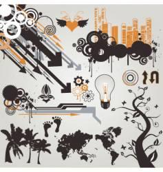 Urban grunge design elements vector