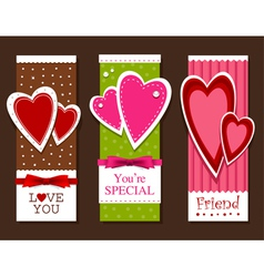 valentines day postcards vector image vector image