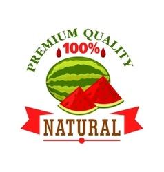 Watermelon fruit symbol for food design vector image vector image