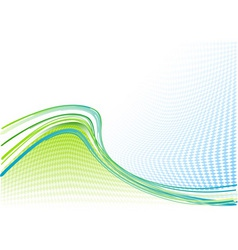 blue and green wavy background vector image