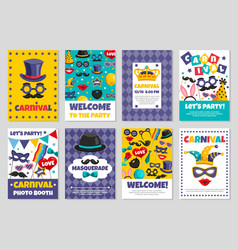carnival party banners vector image vector image