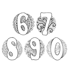 Doodle 6 0 vector image