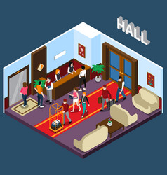 hotel hall isometric vector image