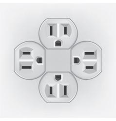Plug socket faces vector image vector image