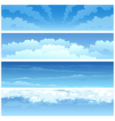 Skyscape set vector image