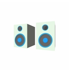 Speakers icon in cartoon style vector image